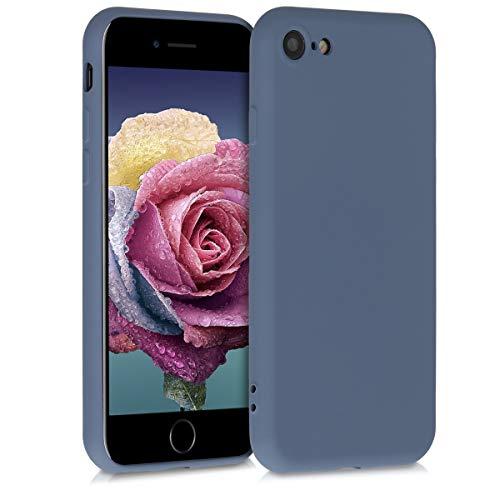 kwmobile Hülle kompatibel mit Apple iPhone 7/8 / SE (2020) - Hülle Handy - Handyhülle in Blaugrau
