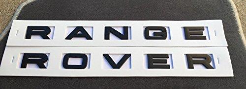 gosweet New matt schwarz fit für Range Rover Buchstaben Kapuze oder Kofferraum Heckklappe Emblem Schriftzug 3Mus Lager