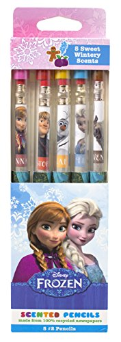 Disney Frozen Smencils Set - 5-Pack of Scented Pencils Made from Recycled Newspapers