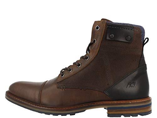 BULLBOXER Herren Stiefel, Männer Schnürstiefel,Boots,Chukka Boots,Schnürung, Boots Chukka schnürung Freizeit,braun,43 EU / 9 UK, 791K85508