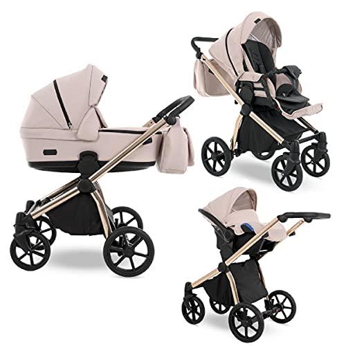 Kinderwagen alles in einem 3in1 2in1 Set Isofix Previo by Lux4kids PR02 3in1 mit Babyschale