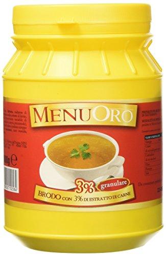 Menuoro - Brodo Estratto di Carne 3% Granulare - Barattolo 1Kg