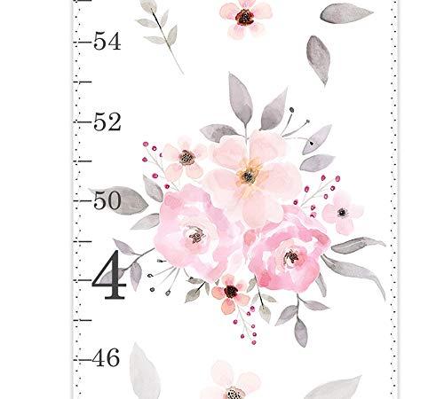 Girls Growth Chart, Canvas Growth Chart, Blush Pink Roses, Blush Watercolor Roses, Blush Floral Wall Art, Blush Nursery, Blush Nursery Decor