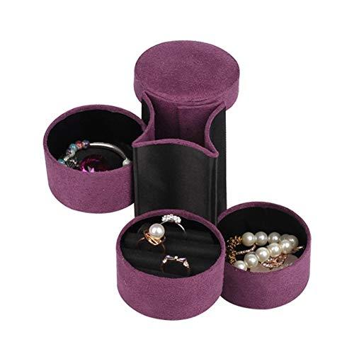 KunLS Joyero Joyeros Mujer Organizador Joyero Viaje Joyeros Joyero Mujer Grande Caja De Pendiente Organizador Pequeña Caja De Almacenamiento De Purple