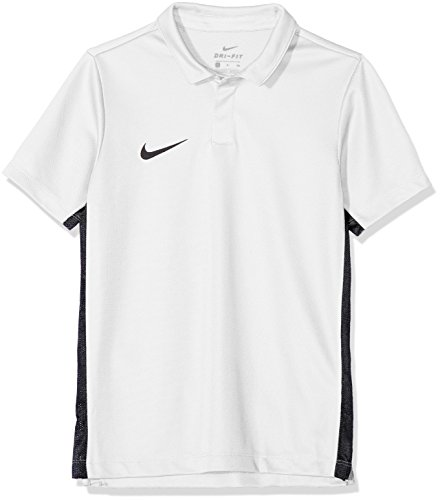 Nike Kinder Dry Academy18 Football Polo Shirt, weiß (Black/White/100), Gr. S