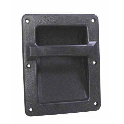 "MIYAKO Speaker Cabinet Plastic Bar Handles Black Recessed Heavy Duty 8.3"" X 6.5"" (1 Pair - 2 pcs)"
