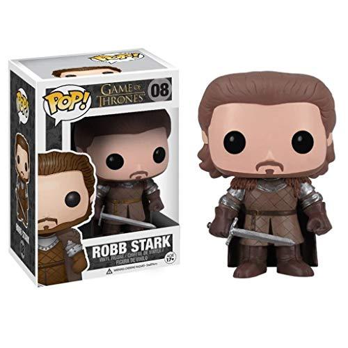 YYBB Pop TV: Juego de Tronos - Robb Stark Figura de acción en Caja Adornos Juego De Tronos Regalos Figura Coleccionable 3,9 Pulgadas Figurines
