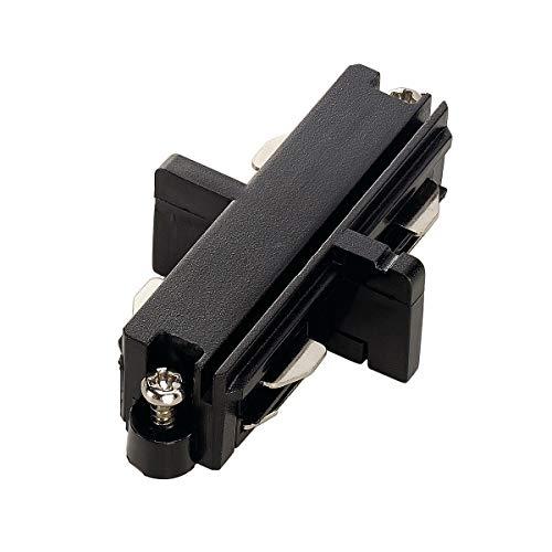 SLV Längsverbinder für 1-Phasen HV-Stromschiene, elektrisch, schwarz 143090