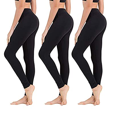 High Waisted Leggings for Women – Soft Athletic Tummy Control Pants for Running Cycling Yoga Workout - Reg & Plus Size