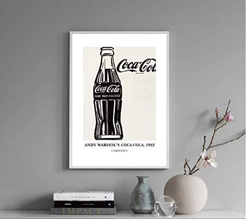 JYSHC Impresión En Lienzo Botella De Coca-Cola Impresiones Retro Cuadro De Arte De Pared Cuadro De Lienzo Decoración De Pared De Cocina Ms47Az 40X60Cm Sin Marco