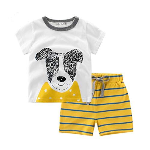 Toddler Boys Pajamas Dinosaur 100% Cotton Kids Fire Truck 2 Piece Pjs Short Sets Summer Sleepwear Clothes Set 1-7 T