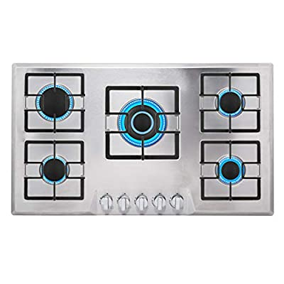 """Empava 30"""" Stainless Steel 5 Italy Sabaf Burners Stove Top Gas Cooktop"""