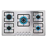 Best Overall: Empava 34' Steel Built-in Gas Cooktop Review