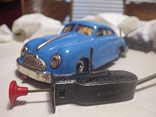 Gescha Auto Fox (Germany) Blue Porsche 356 Coupe Tinplate/Mechanical 1:18