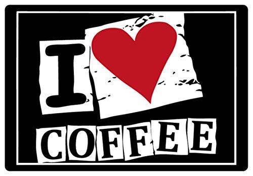 Metalen bord 30x20cm I love Coffee Ik hou koffie bord Tin Sign
