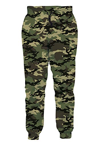 Loveternal Baggy Sweatpants for Men Women Camouflage 3D All Over Print Joggers Outdoor Sport Graphic Jogging Pants Youth Men Sweatpants Soft Tapered Joggers Teen Boy Gifts Clothes XL