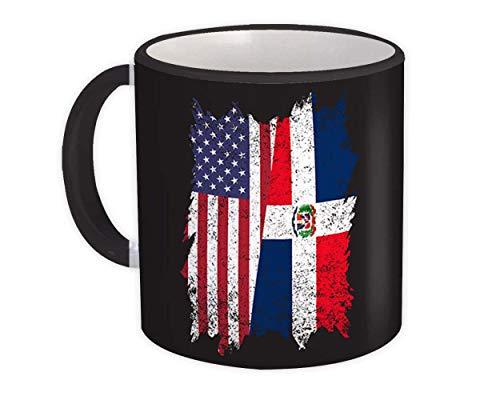 Estados Unidos República Dominicana : Taza de Regalo : Dominicana americana
