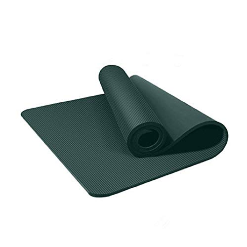 PLUY Tjock yogamatta, pilatesmatta träning yogamatta extra tjock skummatta med remmar och...