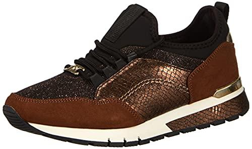 TOM TAILOR Damen 2191107 Sneaker, Brown, 39 EU