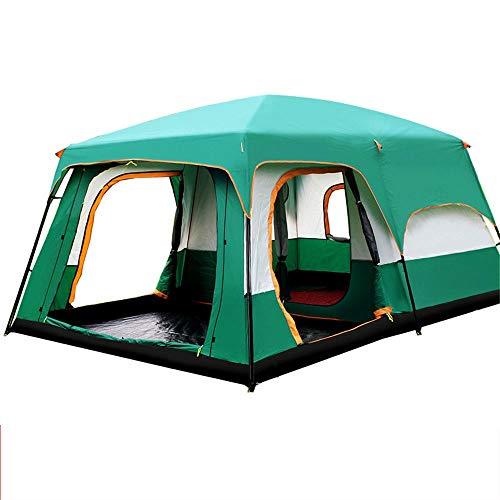 Zelten Family Camp Zelt Freien 6-10 Personen-Zelt einfach einzurichten bewegliches Sonnenschutz-Zelt geeignet for Outdoor-Reisen Leichten Camping (Color : As Shown, Size : One Size)