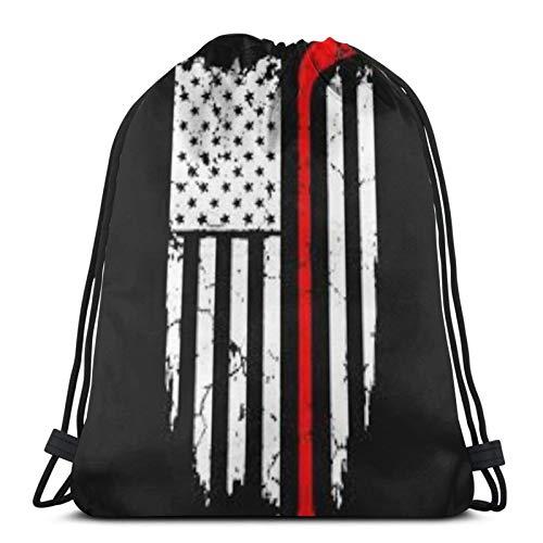 fenrris65 Drawstring Bag Us Coast Guard String Backpack Terylene for Men Women