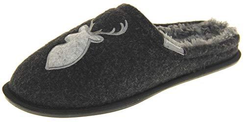 Dunlop Hombre Zapatillas De Invierno Casuales Y Calientes Negro/Gris EU 45