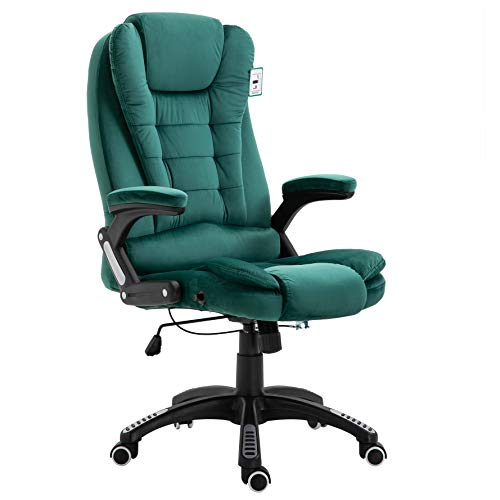 Cherry Tree Furniture Executive Recline Extra Padded Office Chair (Green Velvet)