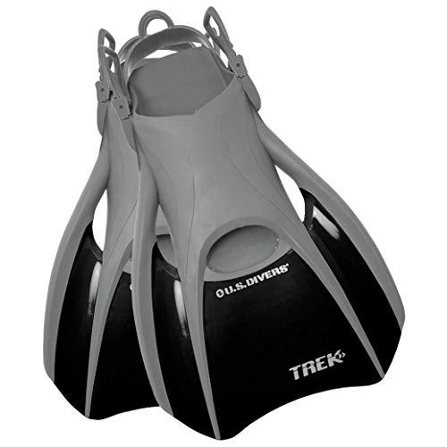 U.S. Divers Trek Rubber Adjustable Strap Scuba and Snorkel Fins, Small