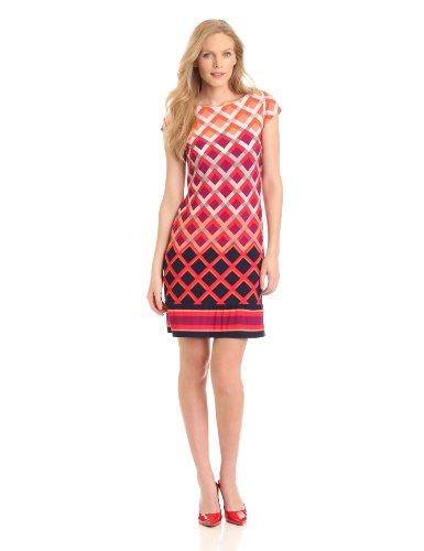 Eliza J Women's Cap Sleeve Sheath Dress - Multi - 10
