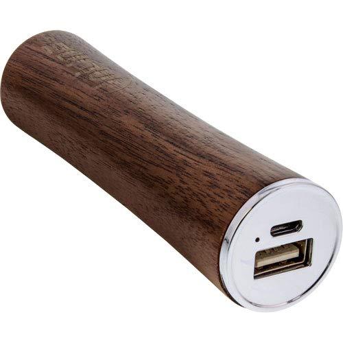 InLine 01479 woodpower, USB Zusatzakku Powerbank 3.000mAh, mit LED Anzeige, Echtholz, Walnuss