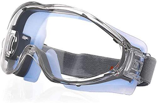 Gafas de seguridad antiniebla: gafas de seguridad protectoras resistentes a los arañazos para hombres Gafas de trabajo protectoras selladas con impacto ocular sobre gafas para ciclismo de molienda