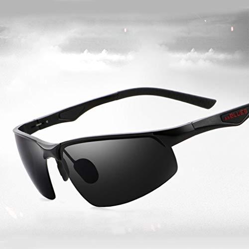 wkwk Gafas de Sol,Gafas de Sol para Hombres Gafas de Sol polarizadas Espejo de visión Nocturna Conducir Conducir Pesca Gafas de Sol de Moda,Tres Estilos (1 Pieza)