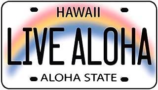Live Aloha Hawaii License Plate - Hawaiian Art Decal - Car Window Bumper Sticker