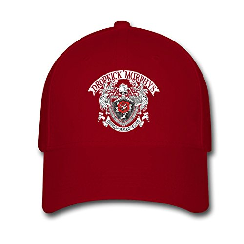 UVMSA Dropkick Murphys Logo Cotton Baseball Cap Snapback Hats Adjustable Hat for Men and Women Red