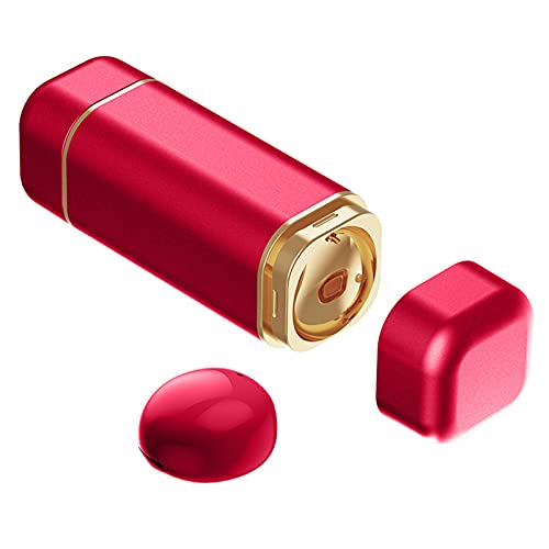 MagiDeal Auricular Individual, Auricular Bluetooth Más Pequeño, Auricular Bluetooth Invisible, con Micrófono, Auricular Inalámbrico Manos Libres de de - Rojo
