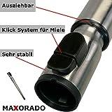 Maxorado Teleskoprohr Staubsauger kompatibel mit Miele Staubsaugerrohr s5381 s5310 s400i s310i parquet silence 10976620 SGDF3 Complete C3 Pure Red Powerline Excellence Jubilee C 1 2 3 4 Rohr S Klick
