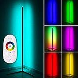 LED Stehlampe Eckleuchte RGB Fernbedienung Farbwechsel Lichtsäule Lichteffekte Stehleuchte modern ECK142 (schwarz)