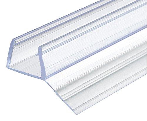 Ersatz-Dichtung 135° Duschdichtung 10-12 mm Glastür-Dichtung 200 cm für Glas-Duschtrennwände - Schiebetüren uvm. | PVC Transparent | Dichtprofil individuell kürzbar | 1 Stück - Dichtlippe 2000 mm