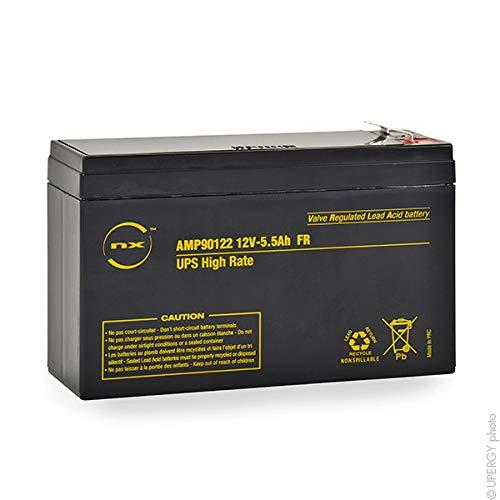NX - Batería SAI 5.5-12 UPS High Rate FR F6.35/F4.8 12V 5.5Ah
