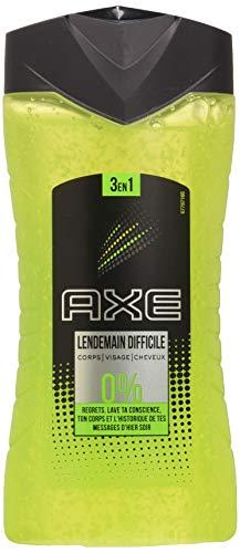 Axe Gel Douche Homme 3en1 Lendemain Difficile, Corps Visages et Cheveux,Parfums d'agrumes, Boost d'énergie, 250ml