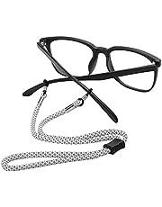 HEWOLF メガネストラップ グラスストラップ 1本/4本セット 眼鏡ケース付 メガネバンド メガネホルダー チェーン 眼鏡ホルダー アウトドア スポーツ用 おしゃれ メンズ レデイース