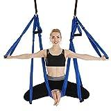 N\C 50150cm Aerial Yoga Swing Fitness Yoga Hammock Kit Home Gym Exercise Anti-Gravity 6 Handle Hammock