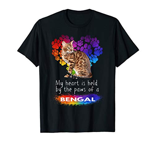 My Heart Is Held By The Paws Of A Bengal Cat T-Shirt