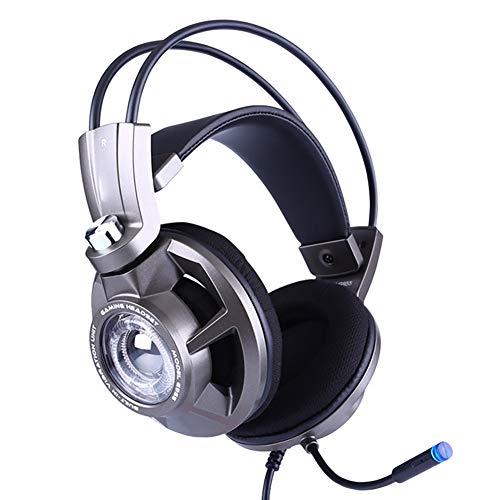 QNSQ Casque de Jeu à Del éclairé, Casque, Microphone à Suppression de Bruit, Surround virtuel 7.1 canaux, Conception de Port USB 2.0