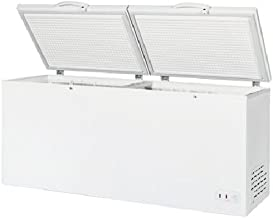 """Maxx Cold 76"""" Wide Solid Hinged Split Top Commercial Sub Zero Chest Freezer Locking Lid NSF Garage Ready Keeps Food Frozen for 2 Days in Case of Power Outage, 30 Cubic Feet 850 Liter, White"""