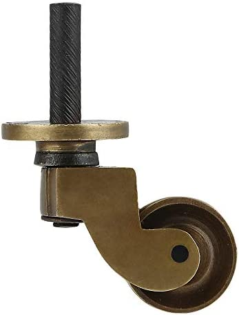 Set of 4 Solid Brass Stem Caster Heavy Duty Safe for All Floors Perfect Replacement for Floor product image
