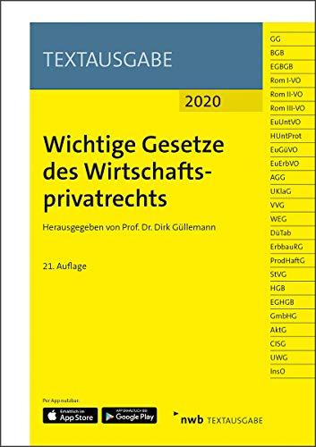Wichtige Gesetze des Wirtschaftsprivatrechts (NWB Textausgabe)