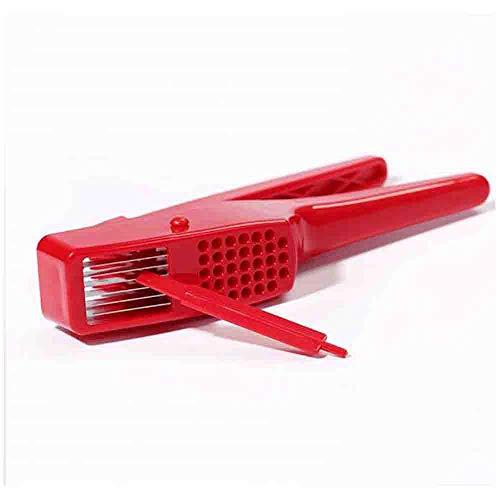 Jwkcm Doble Uso de la trituradora del ajo, del ABS de múltiples Funciones Manual de ajo máquina de Cortar trituradora Rojo