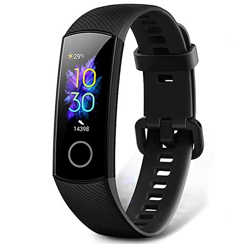HONOR Banda 5 Smartwatch Mujeres Fitness Tracker Smart Watch Pulsera Monitor Smartband Sports Activity Tracker,Negro