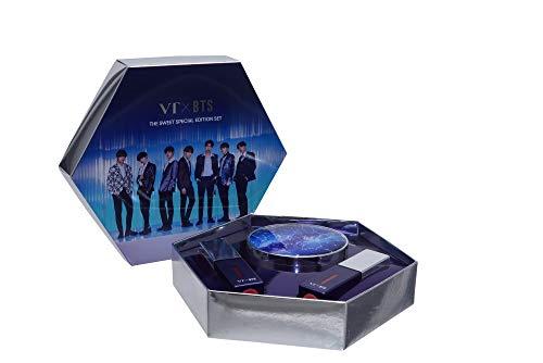 BTS Merchandise Foundation Kissen - The Sweet Special Edition Set, 1 Foundation in einem Bangtan Boys Sternzeichen Etui + 2 Liptints